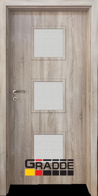 Интериорна HDF врата, модел Gradde Bergedorf, Дъб Вераде