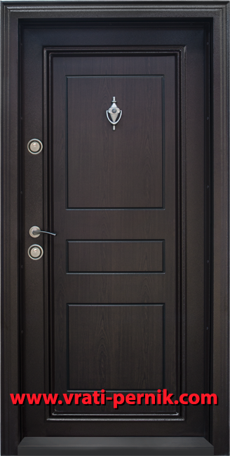 Блиндирана входна врата, модел Т505-2 Тъмен орех