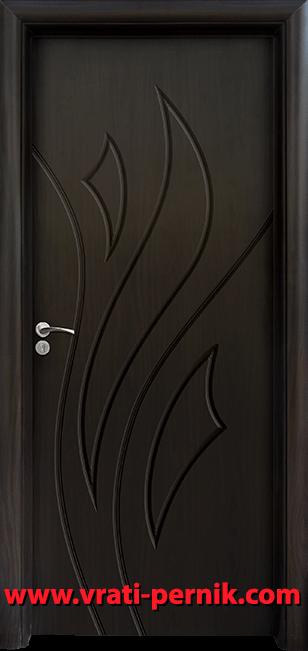 Интериорна HDF врата, модел 033-P Венге