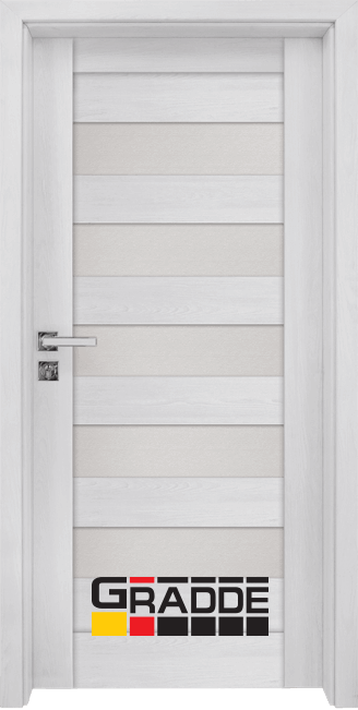 Интериорна HDF врата, модел Gradde Aaven Glas, Сибирска Лиственица