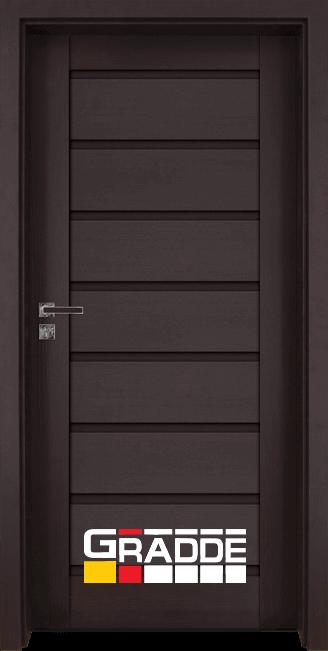 Интериорна HDF врата, модел Gradde Axel Voll, Орех Рибейра