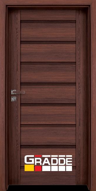 Интериорна HDF врата, модел Gradde Axel Voll, Шведски Дъб