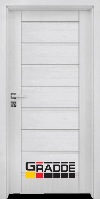 Интериорна HDF врата, модел Gradde Axel Voll, Сибирска Лиственица