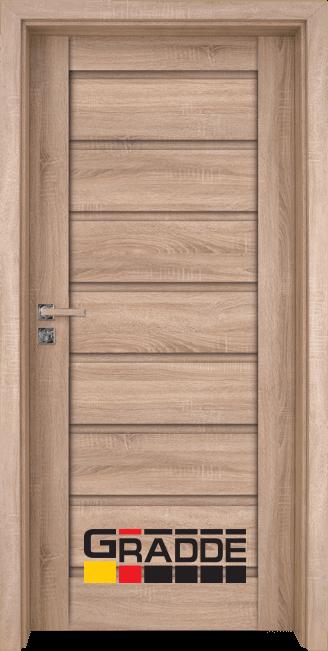 Интериорна HDF врата, модел Gradde Axel Voll, Дъб Вераде