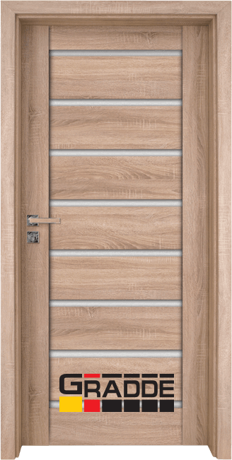 Интериорна HDF врата, модел Gradde Axel Glas, Дъб Вераде