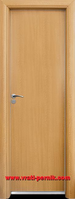 Алуминиева врата за баня – Standart, цвят Светъл дъб